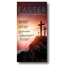 Easter Crosses Hilltop XLarge Postcard