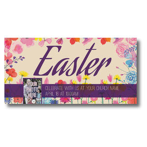 Easter Spring Flowers XLarge Postcards