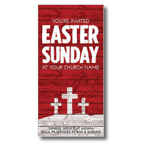 "Easter Wood Red 11"" x 5.5"" Oversized Postcards"