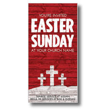 Easter Wood Red XLarge Postcard
