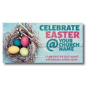 Egg Nest Easter XLarge Postcards