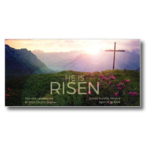 He Is Risen Mountain Church Postcards