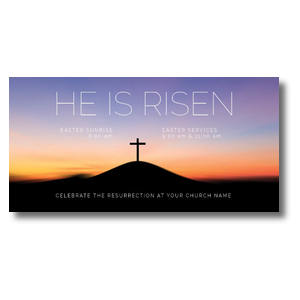 "He Is Risen Sunrise 11"" x 5.5"" Oversized Postcards"