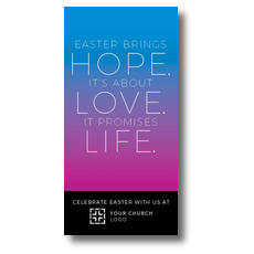 Hope Love Life XLarge Postcard