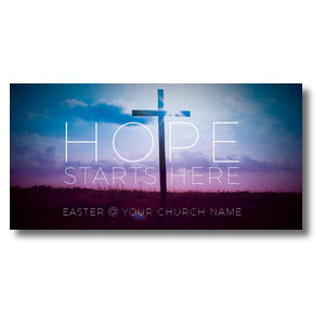 "Hope Starts Here 11"" x 5.5"" Oversized Postcards"