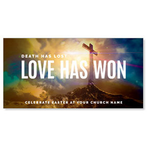 "Love Has Won 11"" x 5.5"" Oversized Postcards"