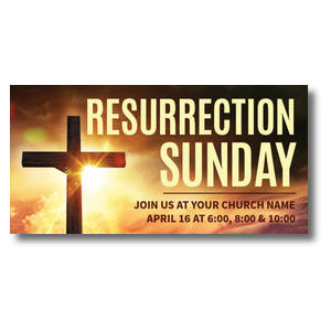 Resurrection Sunday Cross XLarge Postcards