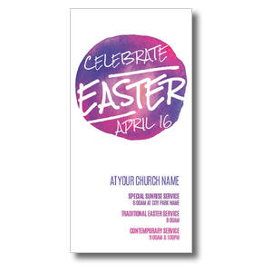 Watercolor Circle Easter XLarge Postcards