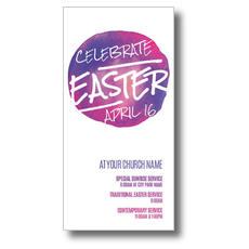 Watercolor Circle Easter XLarge Postcard