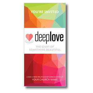 Deep Love Color XLarge Postcards