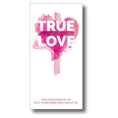True Love Watercolor XLarge Postcard