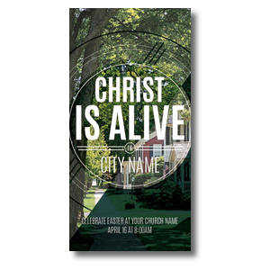 Christ Is Alive Suburban XLarge Postcards