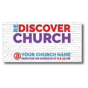 "Brick Rediscover Church 11"" x 5.5"" Oversized Postcards"