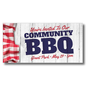 "Community BBQ 11"" x 5.5"" Oversized Postcards"