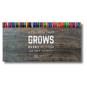 "Crayons 11"" x 5.5"" Oversized Postcards"