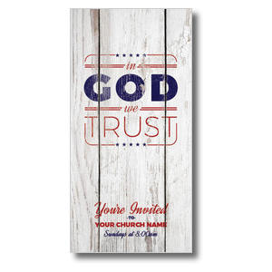 In God We Trust Wood XLarge Postcards