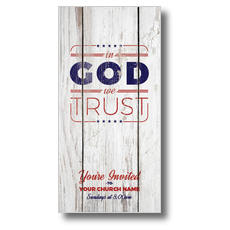 In God We Trust Wood XLarge Postcard