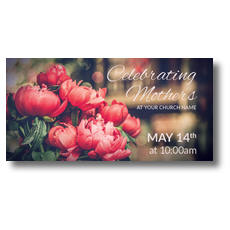 Mothers Day Peonies XLarge Postcard