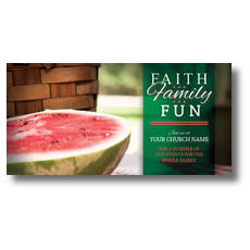 Faith Family Fun XLarge Postcard