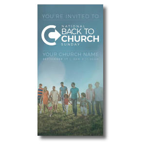 Back to Church Sunday People XLarge Postcards