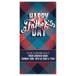 Fathers Day Argyle XLarge Postcards