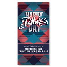 Fathers Day Argyle XLarge Postcard
