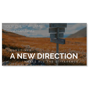 "A New Direction 11"" x 5.5"" Oversized Postcards"