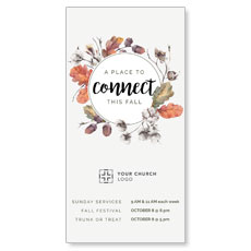 Connect Fall Wreath XLarge Postcard