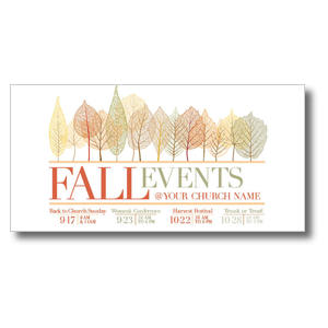 "Fall Events Leaves 11"" x 5.5"" Oversized Postcards"
