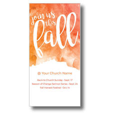 Fall Orange Watercolor XLarge Postcard