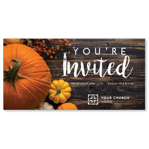 Pumpkins Youre Invited XLarge Postcards