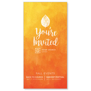 "Youre Invited Orange 11"" x 5.5"" Oversized Postcards"