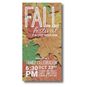 Fall Festival Leaves XLarge Postcards