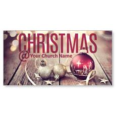 Christmas At Ornaments XLarge Postcard