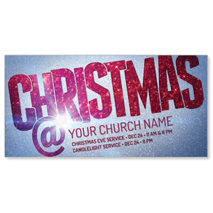 "Christmas At Red Glitter 11"" x 5.5"" Oversized Postcards"