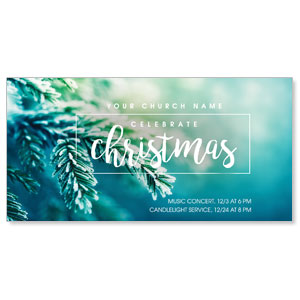 "Christmas Branches 11"" x 5.5"" Oversized Postcards"
