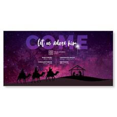 Come Let Us Adore XLarge Postcard