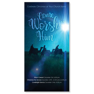 "Come Worship Him 11"" x 5.5"" Oversized Postcards"