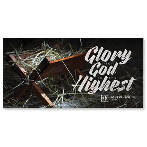 "Glory God Manger 11"" x 5.5"" Oversized Postcards"