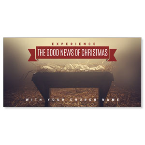 "Good News Manger 11"" x 5.5"" Oversized Postcards"
