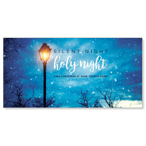 "Holy Night Lamp Post 11"" x 5.5"" Oversized Postcards"