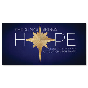 "Hope Star 11"" x 5.5"" Oversized Postcards"