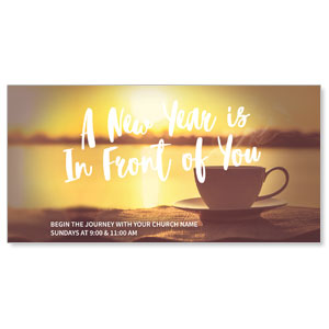 New Year Coffee Cup XLarge Postcards