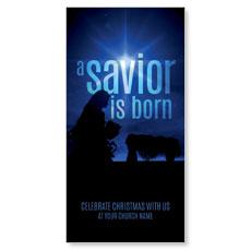 Blue Savior Born XLarge Postcard