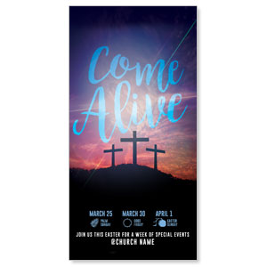 Come Alive Easter Journey XLarge Postcards