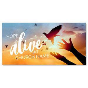 "Alive Doves 11"" x 5.5"" Oversized Postcards"