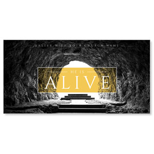 "Alive Empty Tomb 11"" x 5.5"" Oversized Postcards"