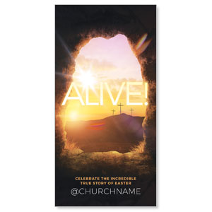 Alive Sunrise Tomb Church Postcards