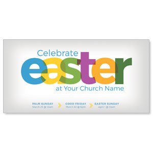 "Color Bold Easter 11"" x 5.5"" Oversized Postcards"