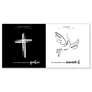 "Cross and Dove 11"" x 5.5"" Oversized Postcards"
